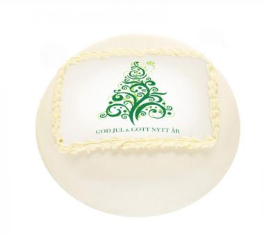 White Christmas Cake with a Spruce White Christmas Cake with a Spruce
