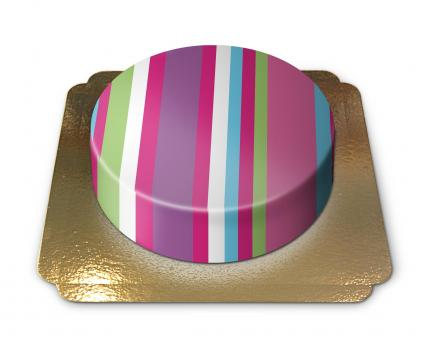 Cake with Stripes Chocolate/Chocolate
